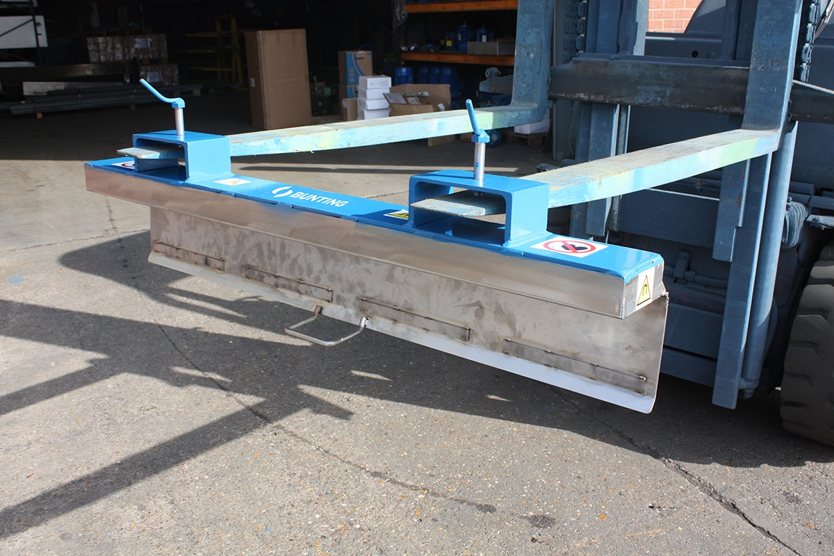 Bunting Easy Clean Forklift Sweeper