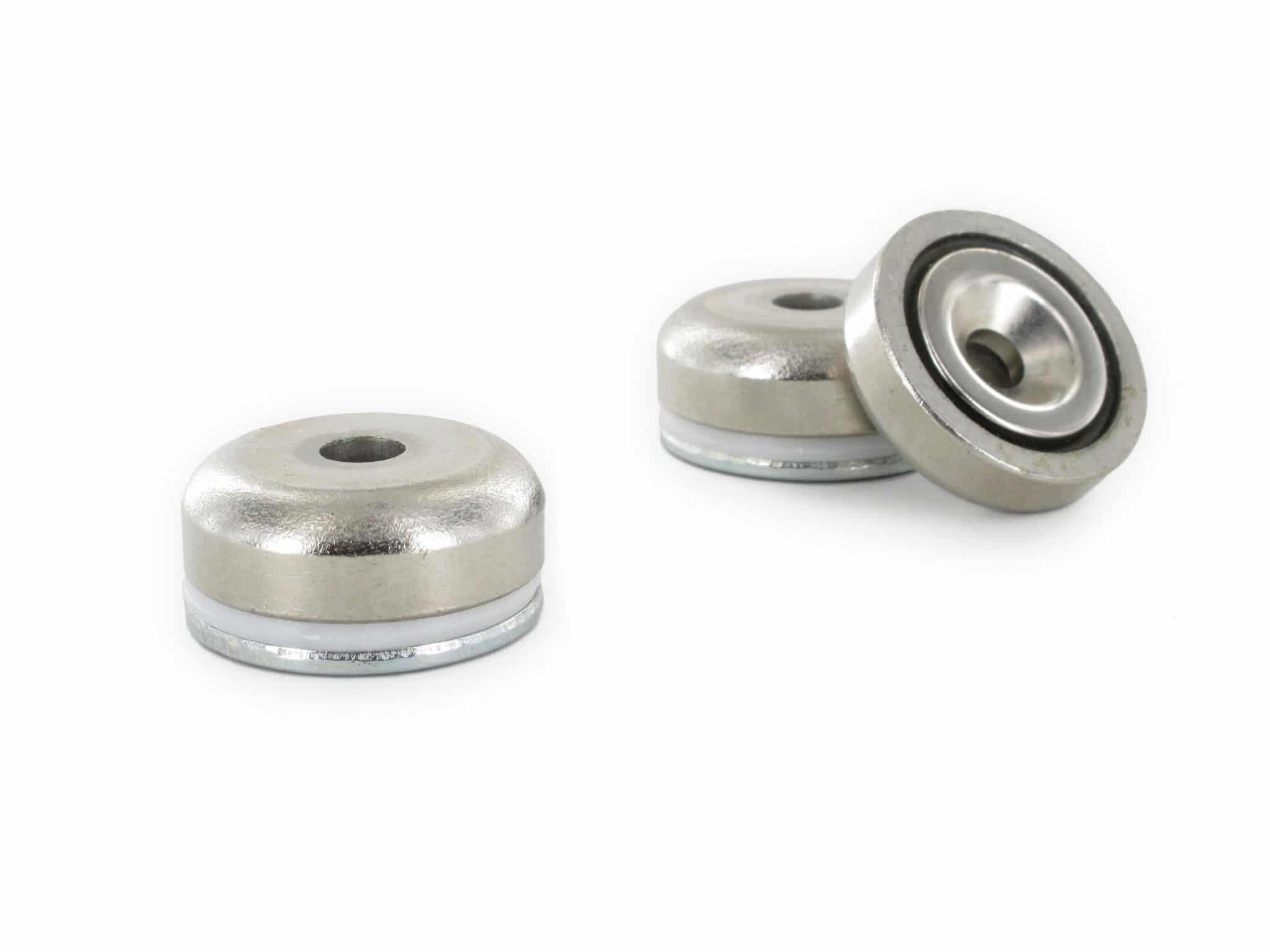 Three Countersunk Pot Magnets